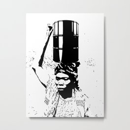 The Black Woman's Burden Metal Print