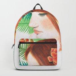 Tropical Flower Girl Backpack