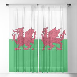Flag of Wales - Welsh Flag Sheer Curtain