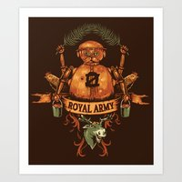 army Art Prints featuring Royal Army by Hillary White