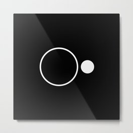 Emptiness - Black and White Minimalism Metal Print