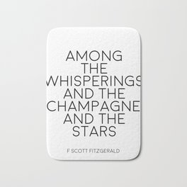Party Decor Bar Decorations Typography Poster Champagne Print Quotes Wall Art F Scott Fitzgerald Bath Mat