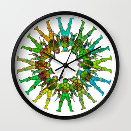 Superhero Butts - Turtles Wall Clock