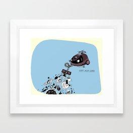 Hungry Vacuum Cleaner Framed Art Print