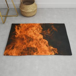 fire - beauty and fear Rug