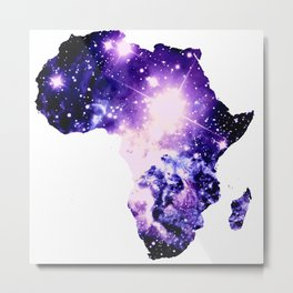 Violet Purple Galaxy Africa Metal Print