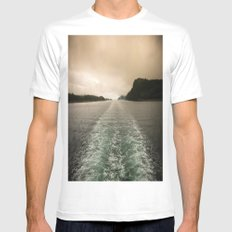 Night or Day? Mens Fitted Tee White MEDIUM