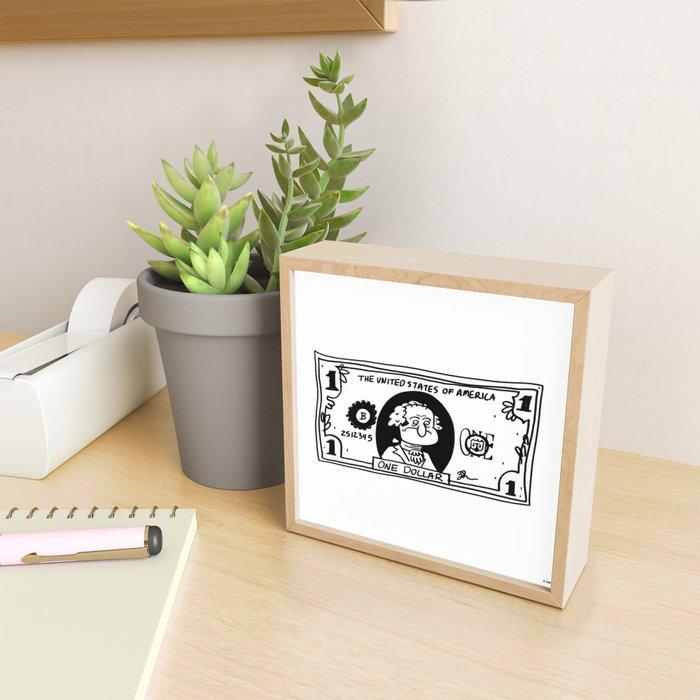 MONEY Framed Mini Art Print