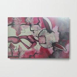 Pink Puff Power Metal Print