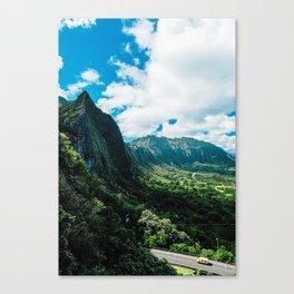 Nu'uanu Pali Lookout, Oahu, Hawaii Canvas Print