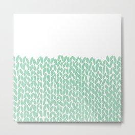 Half Knit Mint Metal Print