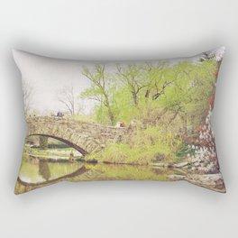 New York City Springtime Rectangular Pillow