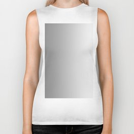 Gray to White Vertical Linear Gradient Biker Tank