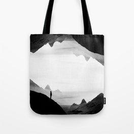 black wasteland isolation Tote Bag