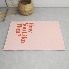 How You Like That Typography BLACKPINK Rug