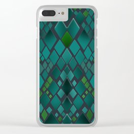 Digital graphics snake skin. Clear iPhone Case