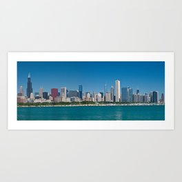 Chicago Skyline Panorama Art Print