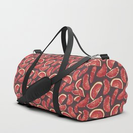 Grapefruit slices in realistic pattern Duffle Bag