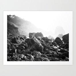 Mile Rock Beach, San Francisco  Art Print