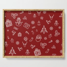Xmas Red Serving Tray