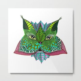 Nature Face Metal Print