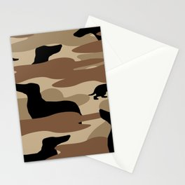 Desert Camo Weiner Dogg Stationery Cards