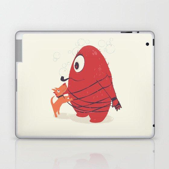 Cyclopes Monster Blob & Orange Dog Laptop & iPad Skin