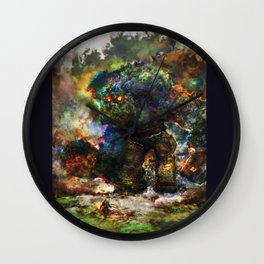shadow of the witcher Wall Clock