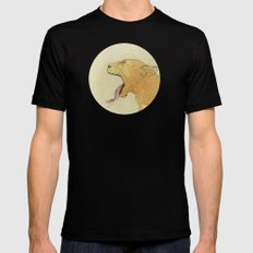 The lady and the lion. Mens Fitted Tee Black MEDIUM