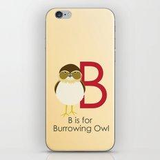 B is for Burrowing Owl iPhone & iPod Skin