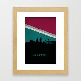 Jacksonville Skyline Framed Art Print