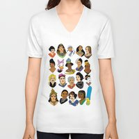 women V-neck T-shirts featuring Women by Anette Moi