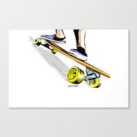 skate Canvas Prints featuring skate by Cal ce tin