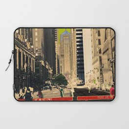 Downtown Chicago photography digitally reimagined - modern Chicago skyline in pop art Laptop Sleeve