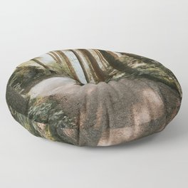 Lost in the Forest - Landscape Photography Floor Pillow