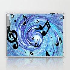 Musical Blue Laptop & iPad Skin