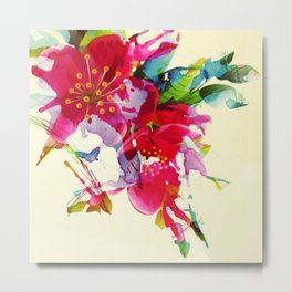exploded floral Metal Print