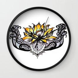 Lotus Light Wall Clock