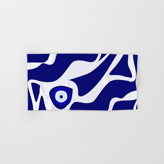 Evil Eye Lava Pattern Hand & Bath Towel