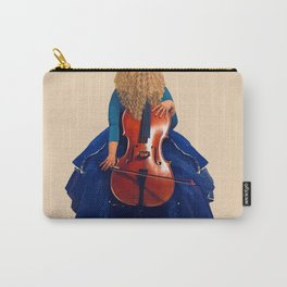 Cellist in Blue II Carry-All Pouch
