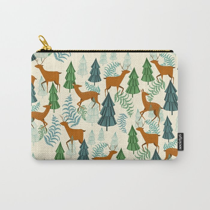Deers in the forest Carry-All Pouch