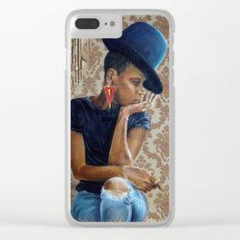 Miss Badu Clear iPhone Case