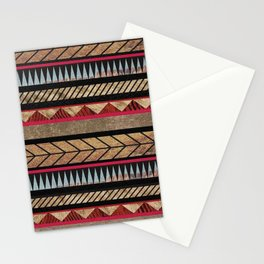 African Tribal Pattern No. 125 Stationery Cards