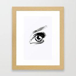 Eye Drawing Framed Art Print