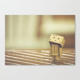 Danbo in the rain Canvas Print