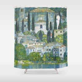 Gustav Klimt - Church in Cassone Shower Curtain