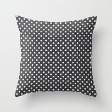 Polka Dots Walls Throw Pillow
