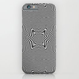 Checkered moire I iPhone Case