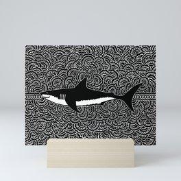 Shark Drawing Meditation Mini Art Print