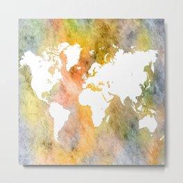 Design 63 World Map Metal Print